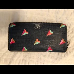 Fossil Wallet - Colorful Diamond Design